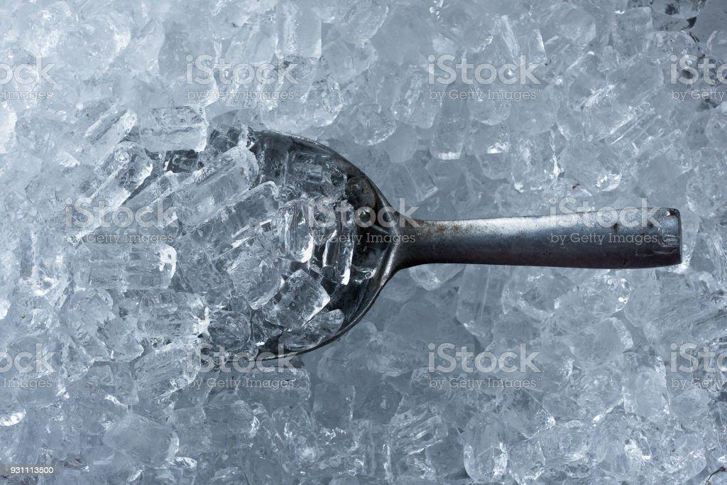 Arka plan buz tüp ve metalden yapılmış buz Kepçe - Royalty-free Arka planlar Stok görsel