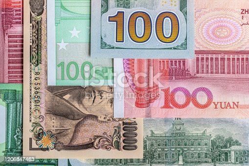 928696036 istock photo Background of international currency notes 1206847463