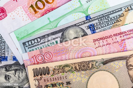 928696036 istock photo Background of international currency notes 1206847464