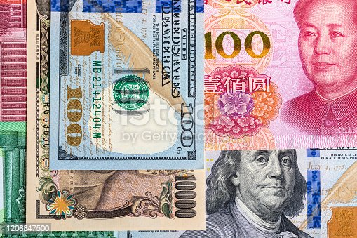 928696036 istock photo Background of international currency notes 1206847500