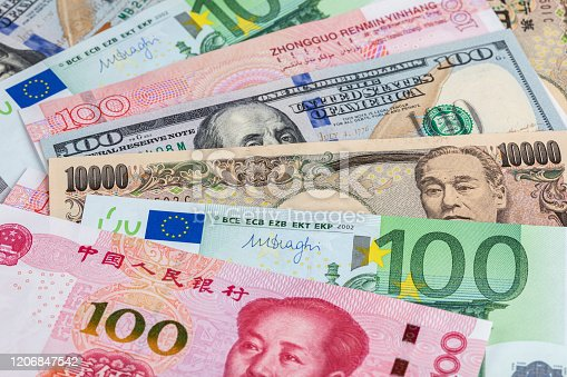 928696036 istock photo Background of international currency notes 1206847542