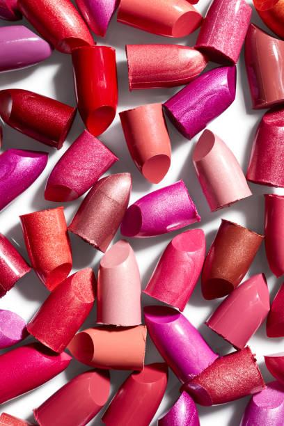 Background of lipsticks stock photo