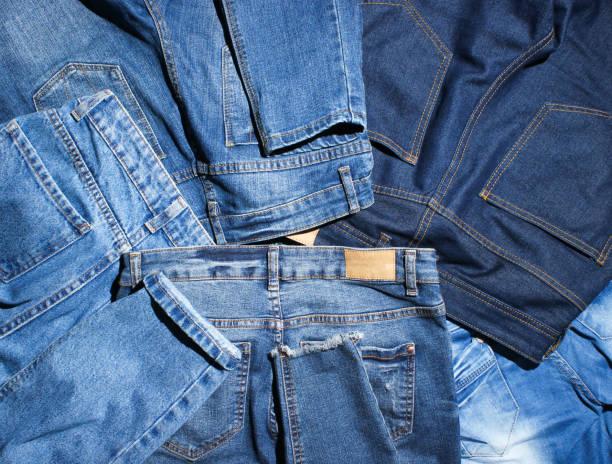許多牛仔褲的背景 - 牛仔褲 個照片及圖片檔