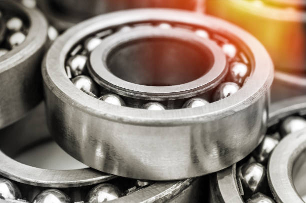 Background of metal bearings. Close up. Background of metal bearings. Close up. ball bearing stock pictures, royalty-free photos & images