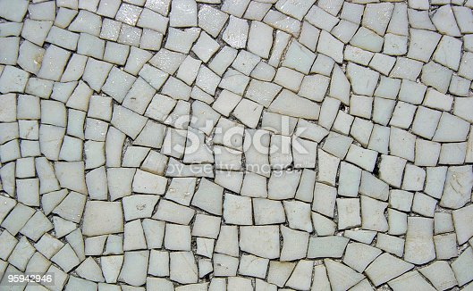 172477241 istock photo Background of Mosaic White Tiles from Pompeian Ruins 95942946