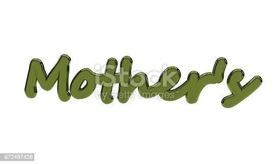 istock Background of mothers text, 3d render 672497426