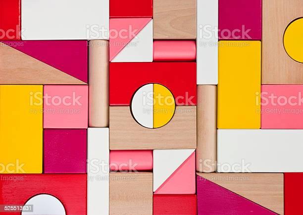 Background Of Multicolor Wooden Children Toy Blocks Stockfoto en meer beelden van Abstract