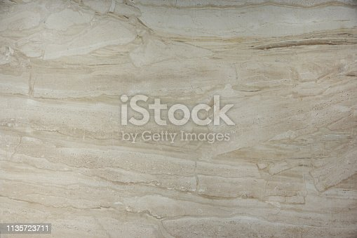 Background of natural stone marble beige color with a beautiful pattern, called Bressia Sarda.