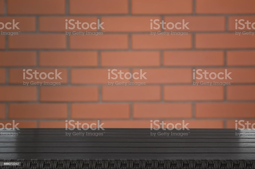 Background of new brown brick wall. Abstract. stock photo