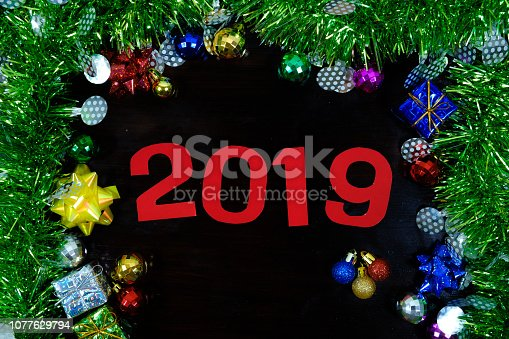505891506 istock photo Background of new year. 1077629794
