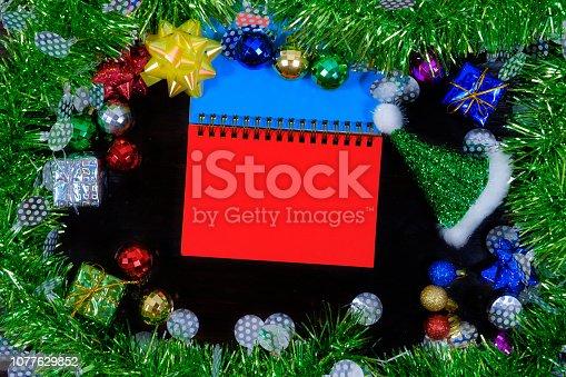 505891506 istock photo Background of new year. 1077629852
