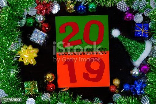 505891506 istock photo Background of new year. 1077629902