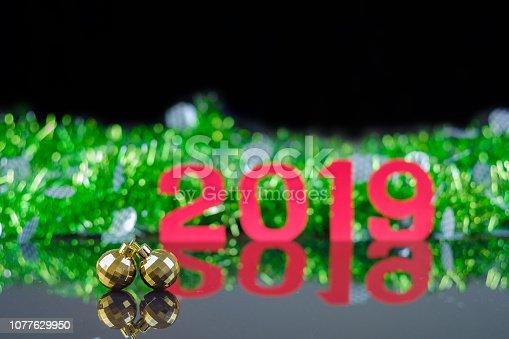 505891506 istock photo Background of new year. 1077629950