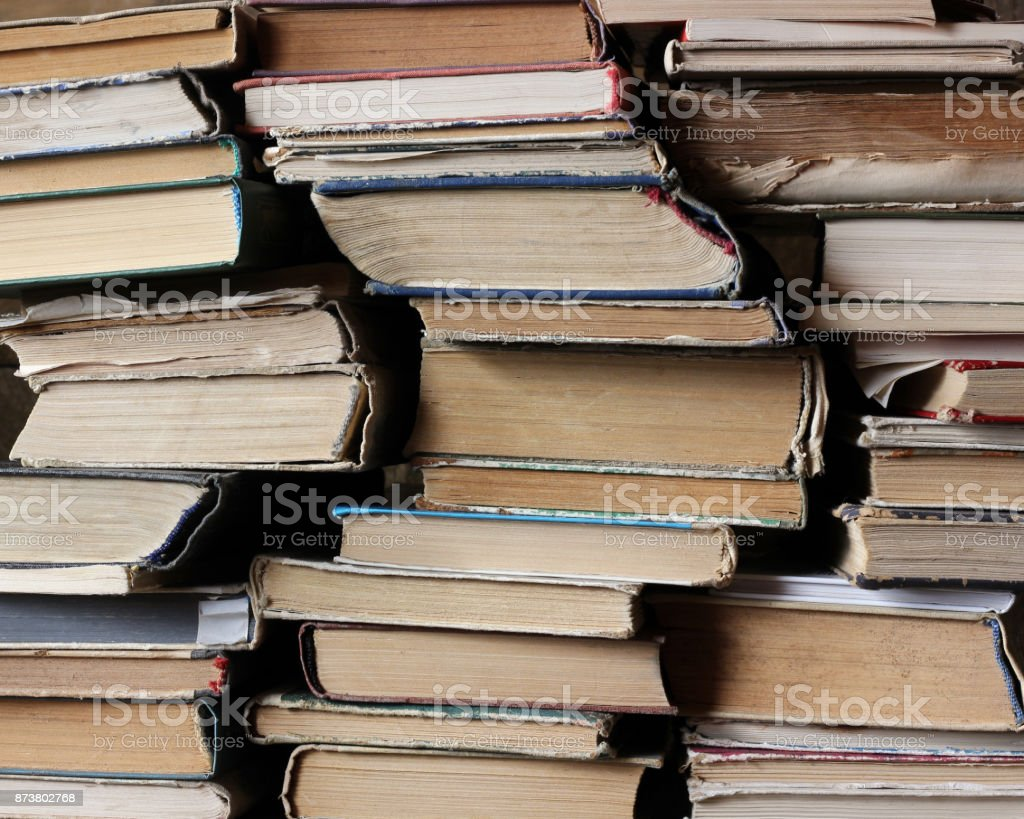 Background of old books. stock photo