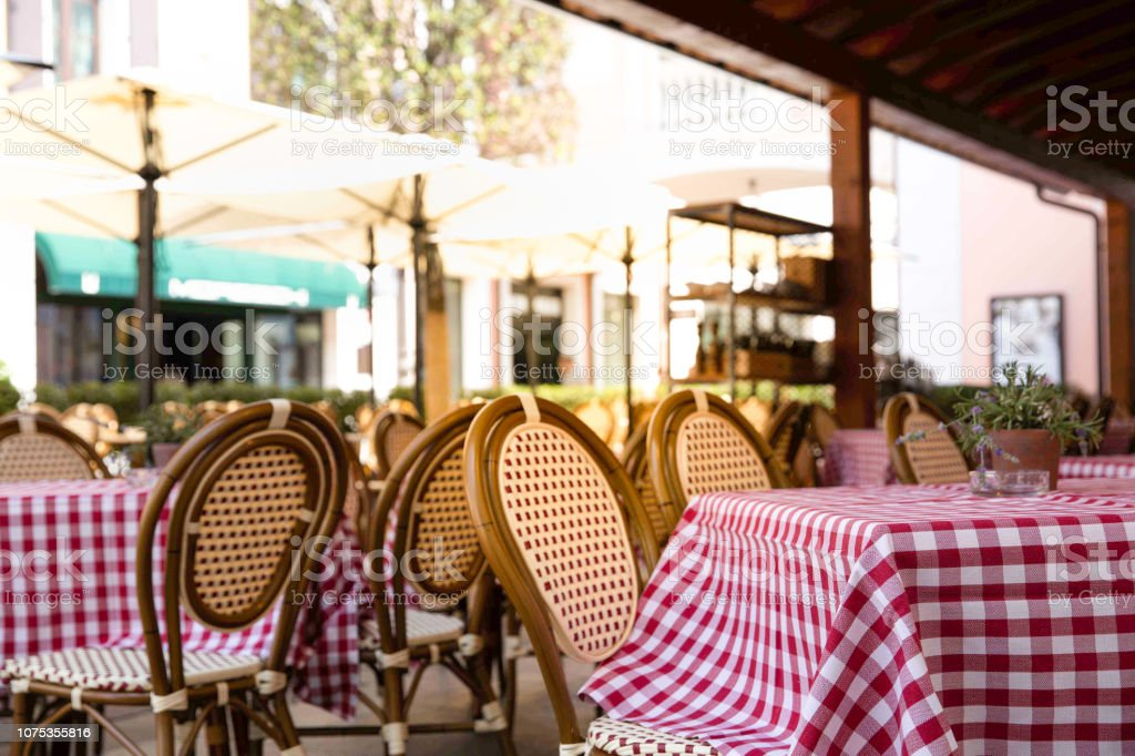 Background Of Outdoor Cafe Or Restaurant Stock Photo Download Image Now Istock