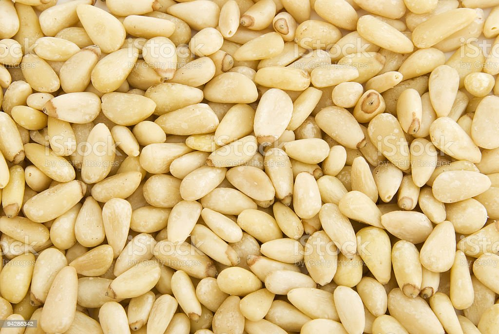 Background of pine nuts royalty-free stock photo