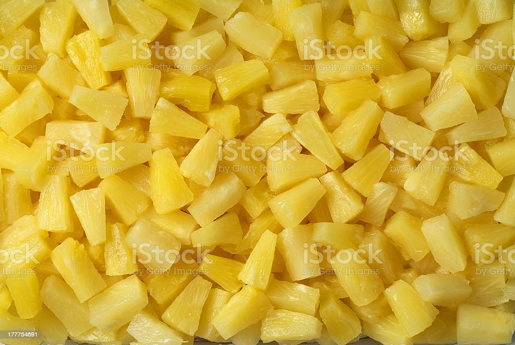 background of pineapple chunks royalty-free stock photo