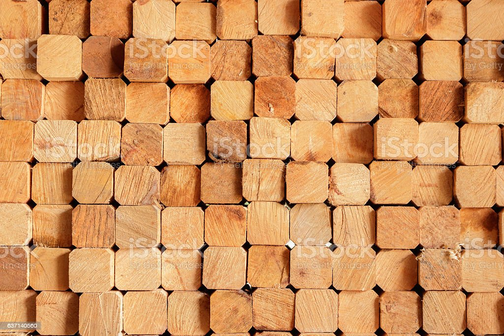 Background of place the rectangular timber stacked. stock photo