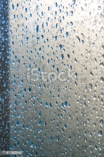 istock background of raindrops on window glass, close up 1161260045