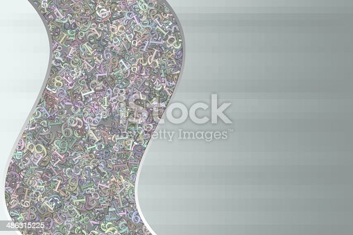 istock Background of randomly scattered numbers in pastel colors 486315225