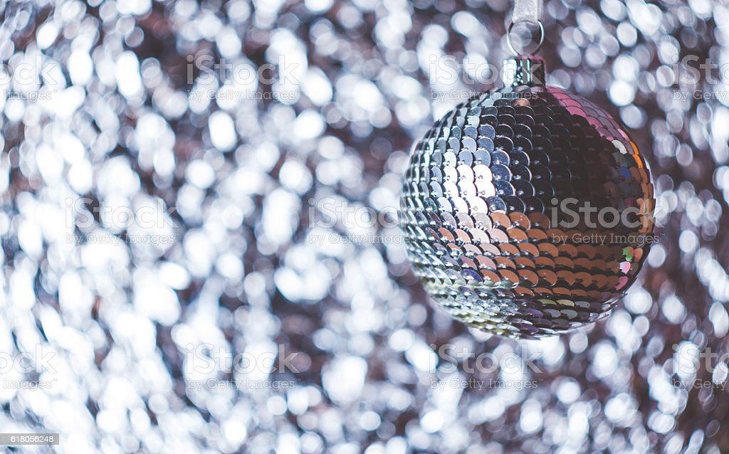 Background Of Red Blue And White Christmas Decorations Foto