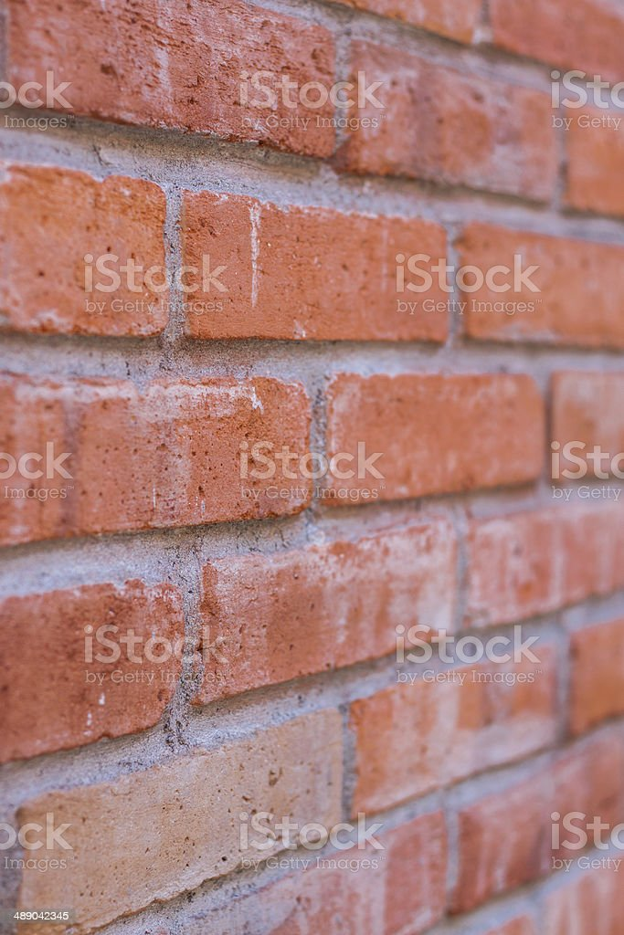 Background of red brick wall royalty-free stock photo