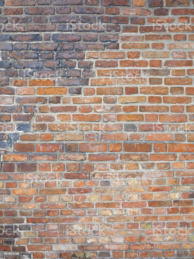 Background of red brick wall texture royalty-free stock photo
