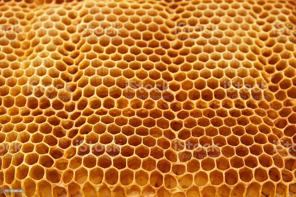 Background of rippling honeycomb royalty-free stock photo