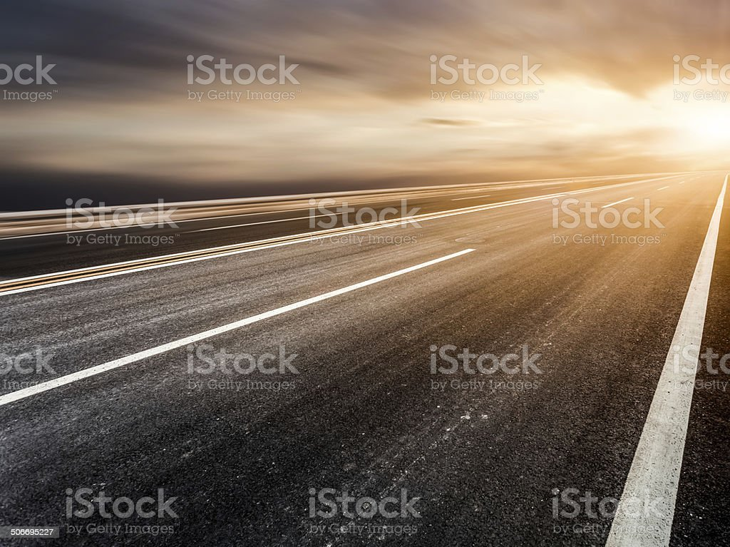 background of road and sky stock photo