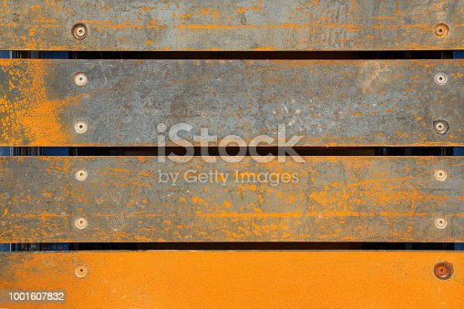 background of rusty metal plates