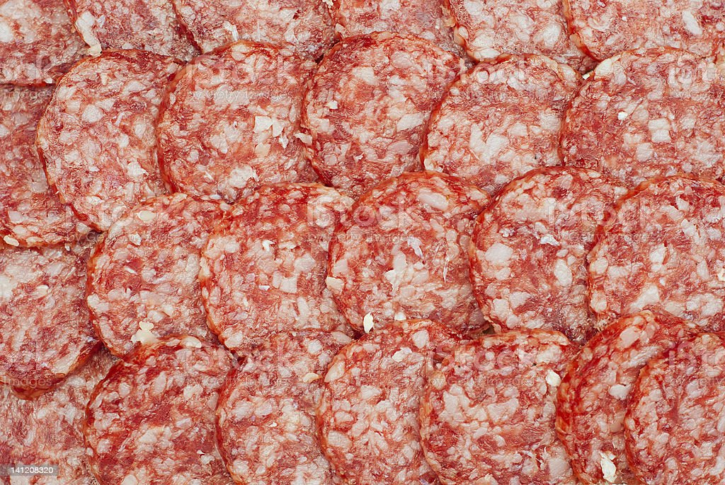 background of salami royalty-free stock photo