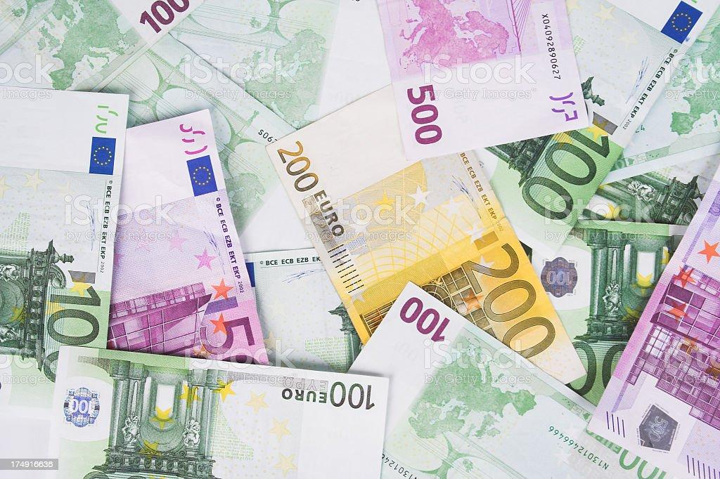 Fondo de euro - foto de stock