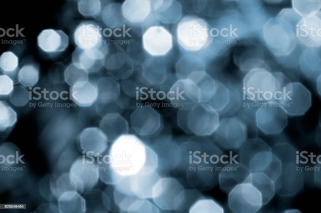 Background of Silver lights with bokeh effect stock photo