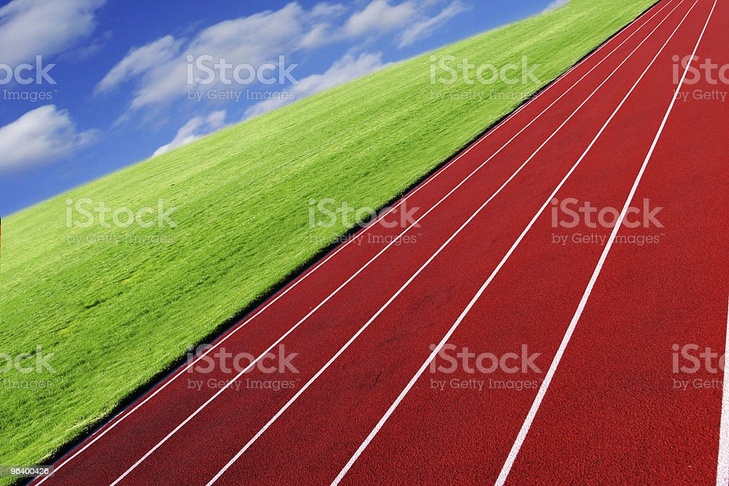 Background of sky, grass and racetrack - Royalty-free Abstract Stock Photo