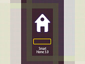 background of smart home application for a smartphone, icon