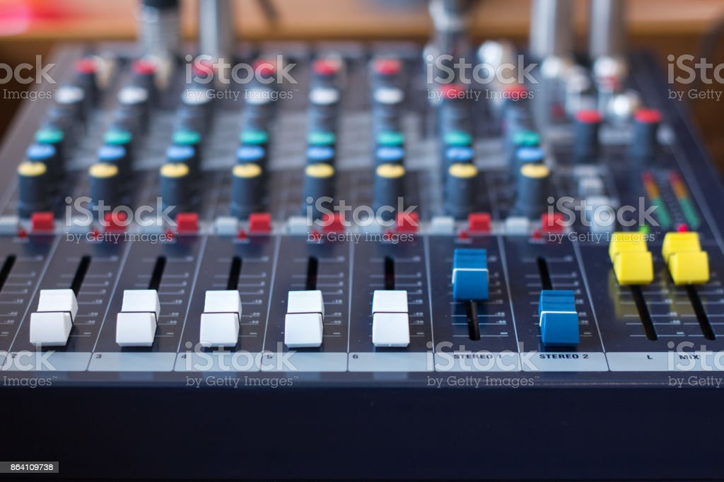 Background of sound mixer control panel / royalty-free stock photo