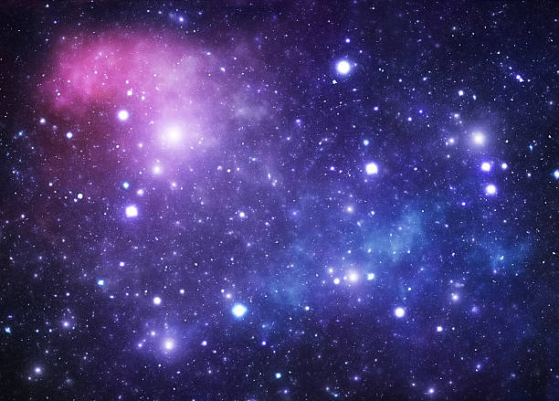 A background of space showing stars stock photo