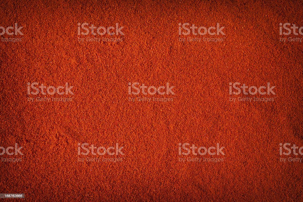 Background of spicy chili powder stock photo
