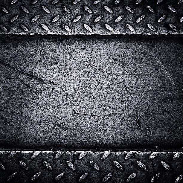 background of steel - diamond plate background stock photos and pictures