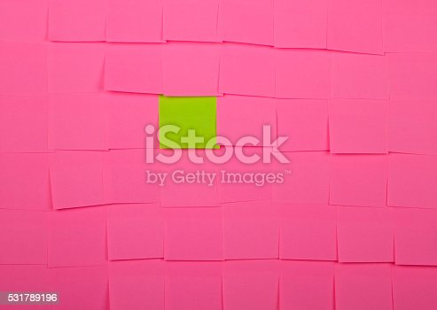 istock Background of Sticky Notes 531789196