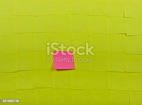 istock Background of Sticky Notes 531866748