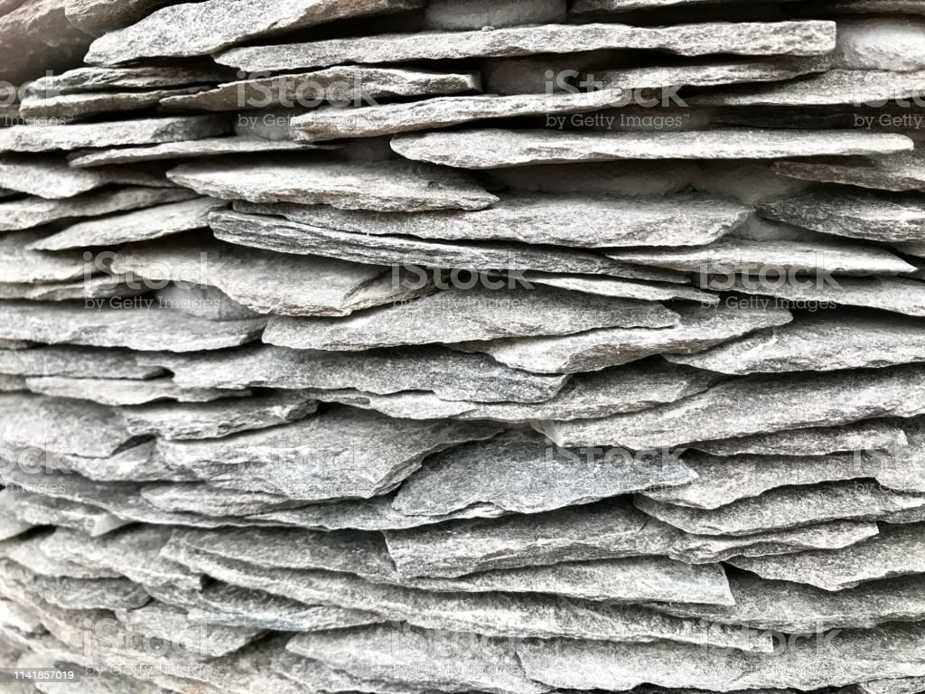 Background of stone plate or flagstone for making floor or garden ,...