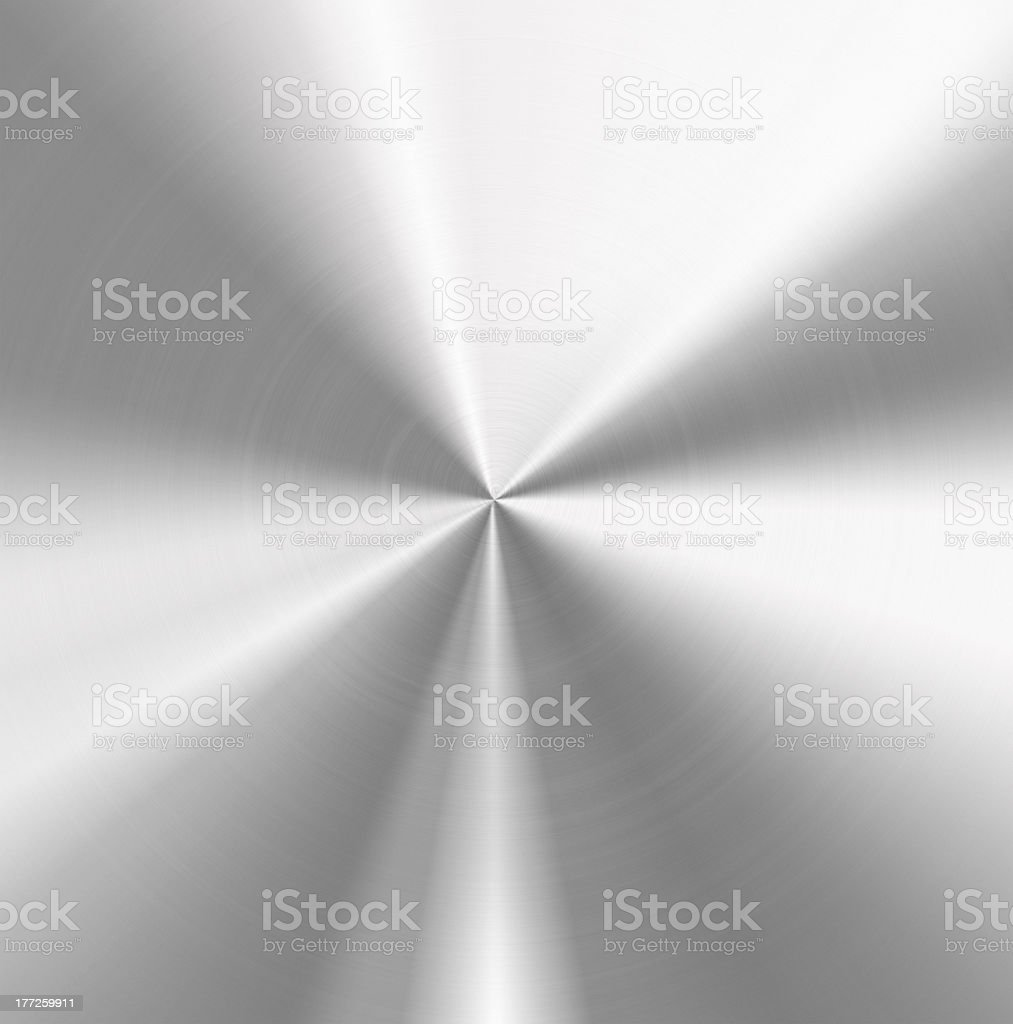 Background of sunburst stainless steel stock photo