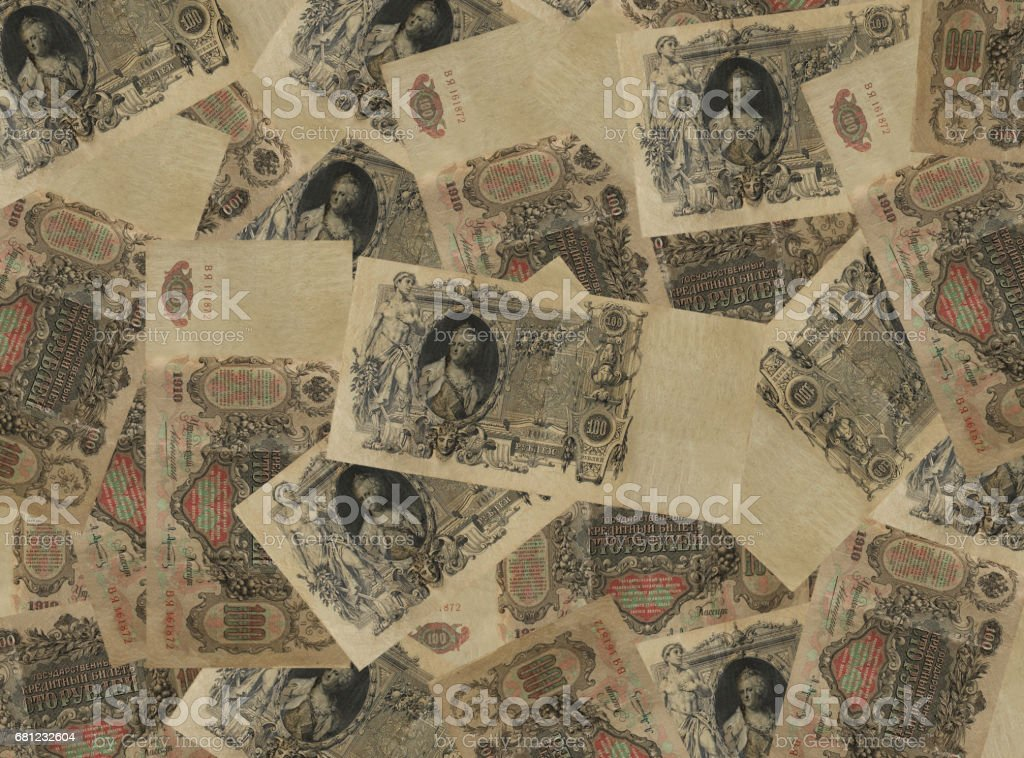 background of the ancient Russian money stock photo