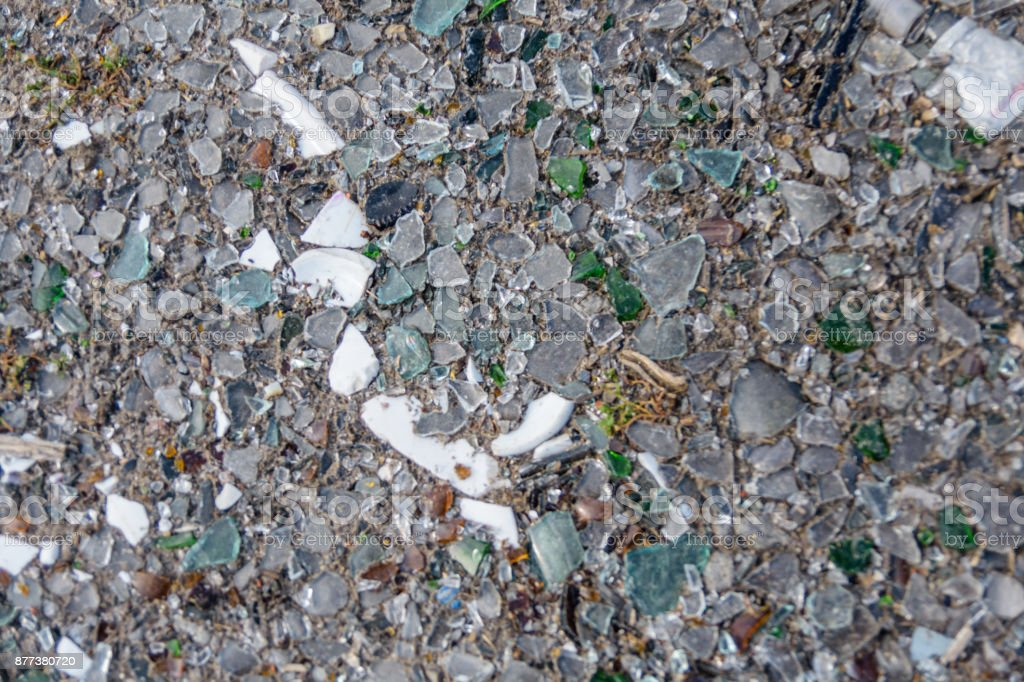 Background of the broken glass stock photo