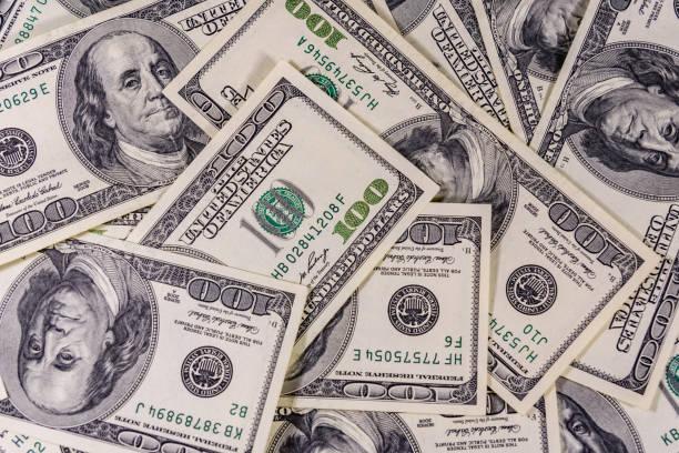 許多美國百元鈔票的背景 - money 個照片及圖片檔