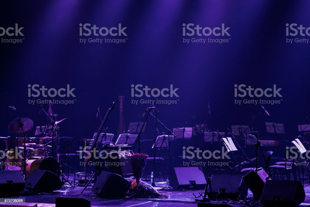 Background of the theater stage stock photo