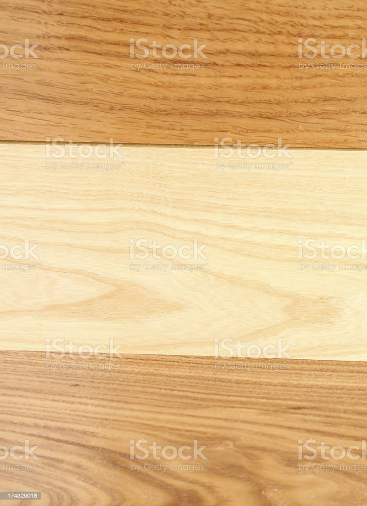 Background of the three boards (oak, elm, acacia) royalty-free stock photo