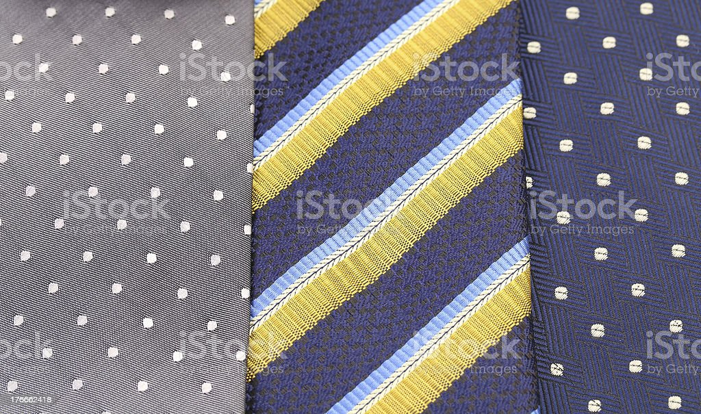 Background of three  multi-colored tie. royalty-free stock photo