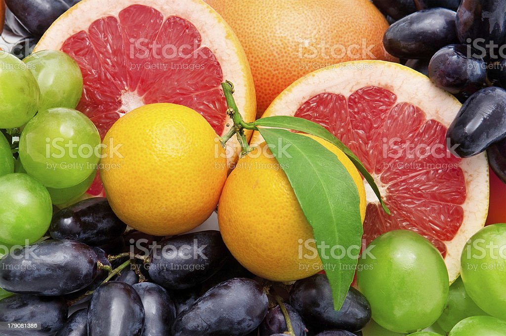 background of tropical fruit stock photo